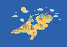 netherlands map images netherlands map free vector 2921 free downloads
