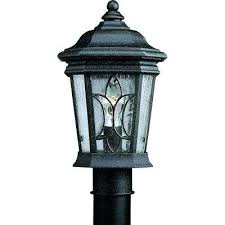 Outdoor Solar Post Light Fixtures Solar Post L Collection 1 Light Outdoor Gilded Iron Post