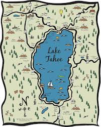 Tahoe Map Illustrative Design Illustrations And Science Illustration By