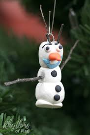 frozen inspired olaf ornament make rhythms of play
