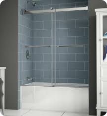 Glass Wax For Shower Doors Fleurco Npt60 11 40 Gemini Plus Frameless Bypass Sliding Tub Doors