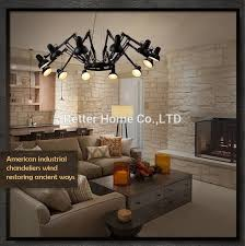 Retractable Pendant Light Retractable Pendant Lights Industrial Lamps Spider Lamp Modern