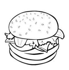 junk food coloring pages junk food burger coloring page kids