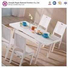 Telescoping Dining Table High Gloss White Modern Dining Table High Gloss White Modern