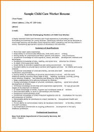 Sample Resume For Child Care by 11 Child Care Resume Resume Reference