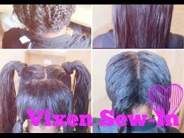 can you use syntheic on a vixen sew in vixen sew in weave tutorial that you can put in a ponytail