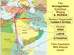 Map Of Syria And Russia Battle Of Armageddon So Iran Ethiopia Libya And Turkey Will