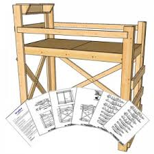 Twin Loft Bed Plans by Plans Archives Op Loftbed