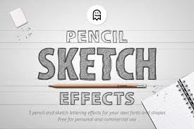 pencil sketch effects layer styles creative market