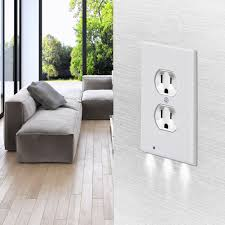 receptacle cover night light 5xduplex angel night light sensor led plug cover wall outlet