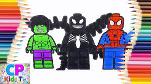 lego hulk venom and spiderman coloring pages for kids hulk