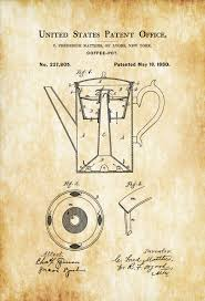 Coffee Pot Patent Print – Decor Kitchen Decor Restaurant Decor