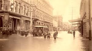 Portland Flooding Map by 1st Avenue Flood 1894 Vintage Portland