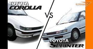 a comparison of toyota sedans u2013 toyota corolla vs toyota sprinter
