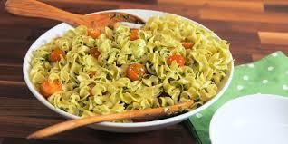 best pesto caprese noodle salad recipe delish