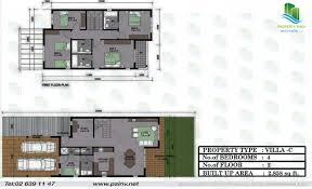 4 bedroom 2858 sqft floor plan contemporary villageal reef villas