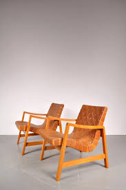 vostra easy chairs by jens risom for knoll 1941 set of 2 for