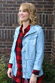 one red plaid button up shirt 3 ways to wear it mom fabulous