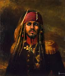 Oil Painting Meme - capt jack sparrow cosplay old oil painting photoshop by