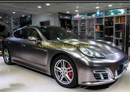 porsche vinyl 2018 best quality electric chrome charcoal grey vinyl wrap film