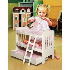 Badger Basket Doll Bunk Bed With Ladder And Trundle Fits Most - Dolls bunk bed