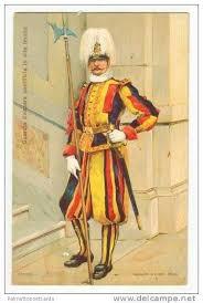 guardia svizzera pontificia in alta tenuta vatican 00 10s