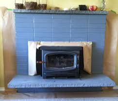 ccpatchwork painted fireplace makeover