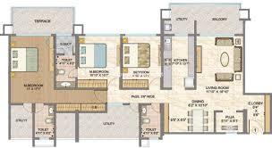 Sobha Jasmine Floor Plan Hubtown Sunmist Andheri Property Megamart