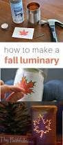 easy fall craft luminary diy fall crafts craft and fall decor