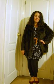 charity shop faux fur coats ethical fashion and clothing blog