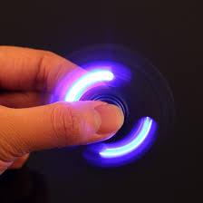 fidget spinner light up blue tuff luv full metal glowing light up fidget spinner blue buy