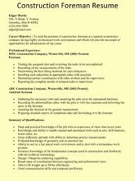 construction resume exles construction foreman resume exles exles of resumes
