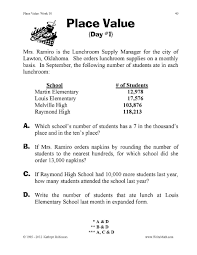 place value word problems 4th grade division problems with decimals