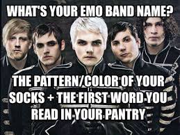 Emo Band Memes - what s your emo band name weknowmemes