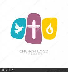 church logo christian symbols the cross of jesus christ a dove