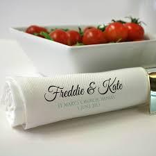 printed wedding napkins personalised wedding napkin set by a type of design