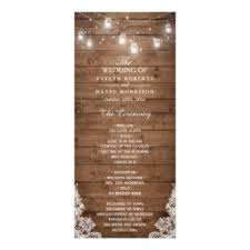 wedding bulletins wedding programs zazzle