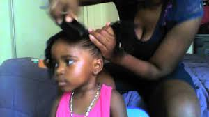 hair styles in two ponies natural hair styles for toddlers two curly pony tails youtube