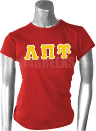 lambda pi upsilon greek letter screen printed t shirt red
