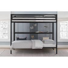 Dorel DHP Ultimate Full Over Twin Metal Bunk Bed With Storage - Twin bunk beds with storage