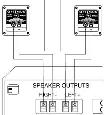 optimus 300w pa speakers