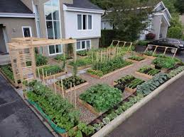 house with and front yard vegetable garden design ideas patio