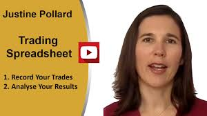 Options Trading Journal Spreadsheet by Justine Pollard Trading Journal Spreadsheet
