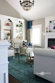 Colors For A Living Room Bright White With A Pop Of Color Living Room Reveal Remington Avenue
