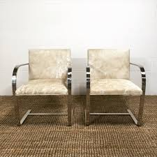 mies van der rohe brno chairs for knoll in brazilian cowhide forsyth mies van der rohe brno chairs for knoll in brazilian cowhide forsyth