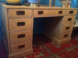 Campaign Style Desk Go You Solid Wood Campaign Style Desk U2014 Casa Victoria Vintage