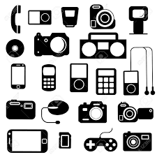 electronic gadgets icon with electronic gadgets vector illustration royalty free