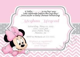 minnie mouse baby shower invitations pink minnie mouse girl shower invitation invitations online