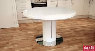 Modern Round Kitchen Tables Furniture Round Expandable Dining Table For Extraordinary Dining