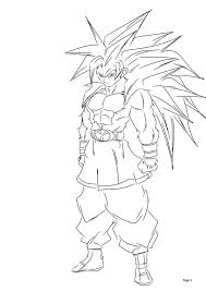 super saiyan coloring pages